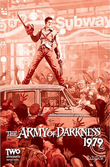 Cover image for ARMY OF DARKNESS 1979 #2 CVR I 30 COPY INCV SUYDAM BLOOD