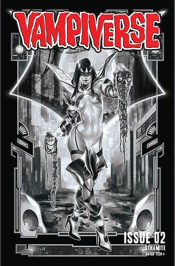 Cover image for VAMPIVERSE #2 CVR H 20 COPY INCV HETRICK B&W