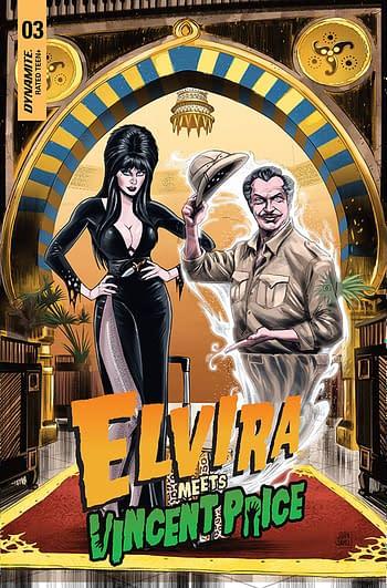 Cover image for ELVIRA MEETS VINCENT PRICE #3 CVR B SAMU