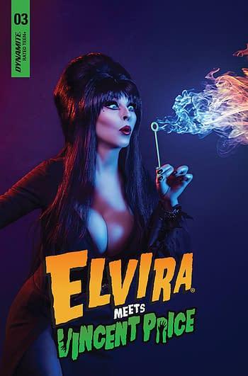 Cover image for ELVIRA MEETS VINCENT PRICE #3 CVR D PHOTO