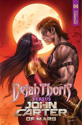 Cover image for DEJAH THORIS VS JOHN CARTER OF MARS #4 CVR A PARRILLO