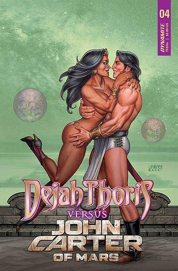 Cover image for DEJAH THORIS VS JOHN CARTER OF MARS #4 CVR B LINSNER