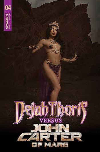 Cover image for DEJAH THORIS VS JOHN CARTER OF MARS #4 CVR D COSPLAY