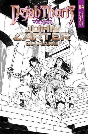 Cover image for DEJAH THORIS VS JOHN CARTER OF MARS #4 CVR E 10 COPY INCV MI