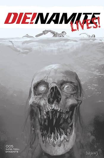 Cover image for DIE!NAMITE LIVES #5 CVR F 10 COPY INCV SUYDAM B&W