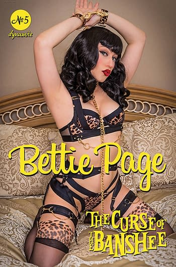 Cover image for BETTIE PAGE & CURSE OF THE BANSHEE #5 CVR D COSPLAY