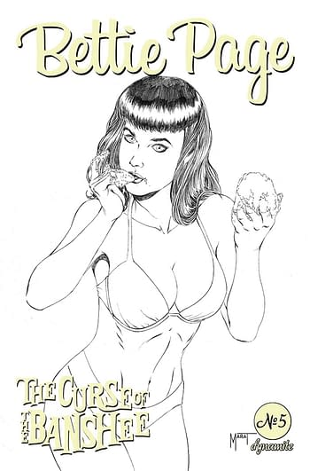 Cover image for BETTIE PAGE & CURSE OF THE BANSHEE #5 CVR F 10 COPY INCV MYC