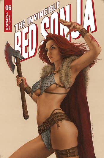Cover image for INVINCIBLE RED SONJA #6 CVR C CELINA