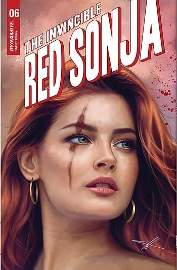 Cover image for INVINCIBLE RED SONJA #6 CVR F 10 COPY INCV COHEN TRADE DRESS