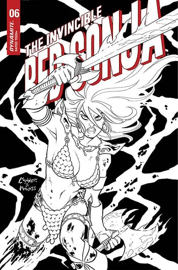 Cover image for INVINCIBLE RED SONJA #6 CVR G 15 COPY INCV CONNER B&W