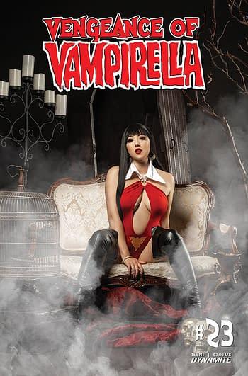 Cover image for VENGEANCE OF VAMPIRELLA #23 CVR D COSPLAY