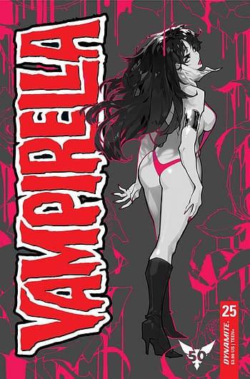 Cover image for VAMPIRELLA #25 CVR M 15 COPY INCV BESCH MONO