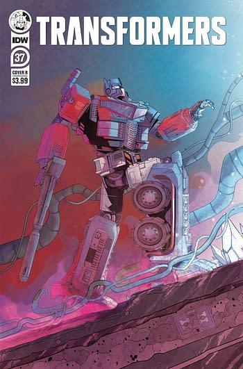 Cover image for TRANSFORMERS #37 CVR B PIRIZ
