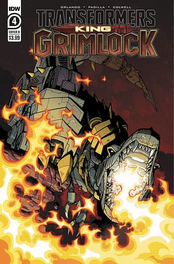 Cover image for TRANSFORMERS KING GRIMLOCK #4 (OF 5) CVR B KYRIAZIS