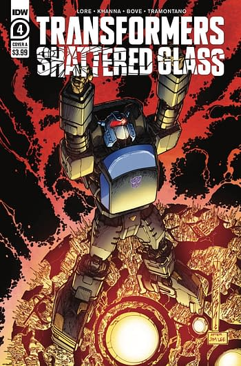 Cover image for TRANSFORMERS SHATTERED GLASS #4 (OF 5) CVR A MILNE