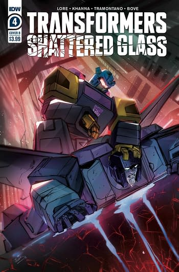Cover image for TRANSFORMERS SHATTERED GLASS #4 (OF 5) CVR B MCGUIRE-SMITH