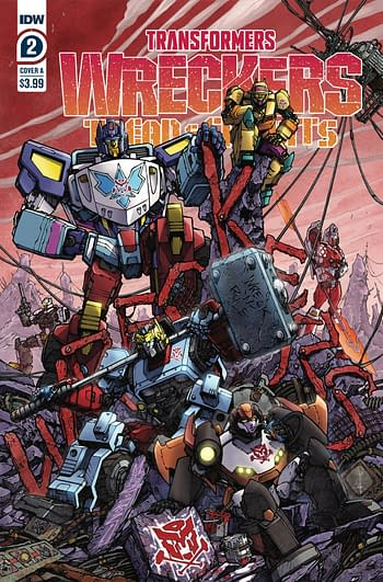 Cover image for TRANSFORMERS WRECKERS TREAD & CIRCUITS #2 (OF 4) CVR A MILNE