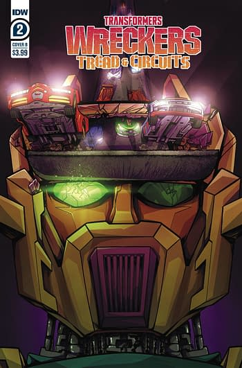 Cover image for TRANSFORMERS WRECKERS TREAD & CIRCUITS #2 (OF 4) CVR B MARGE