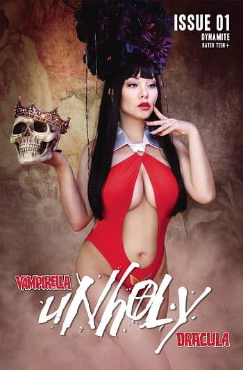Cover image for VAMPIRELLA DRACULA UNHOLY #1 CVR F COSPLAY