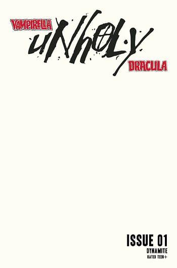 Cover image for VAMPIRELLA DRACULA UNHOLY #1 CVR G BLANK AUTHENTIX