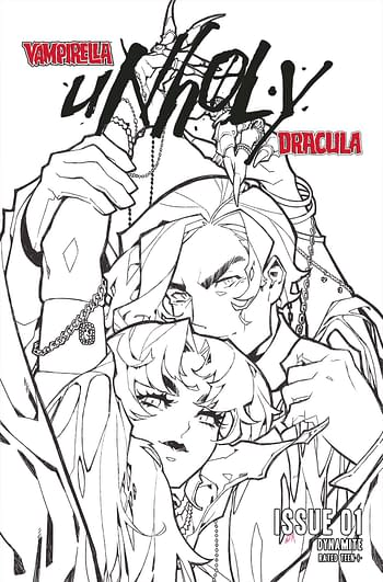Cover image for VAMPIRELLA DRACULA UNHOLY #1 CVR K 25 COPY INCV BESCH B&W