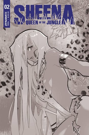 Cover image for SHEENA QUEEN JUNGLE #2 CVR G 20 COPY INCV BESCH B&W