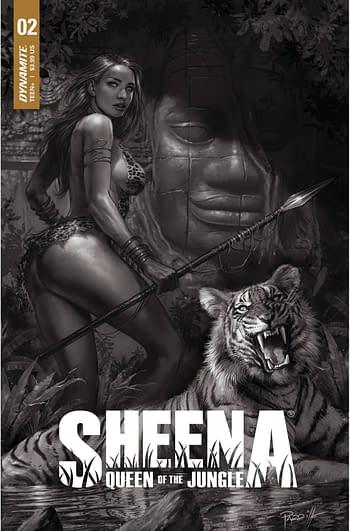 Cover image for SHEENA QUEEN JUNGLE #2 CVR H 25 COPY INCV PARRILLO B&W