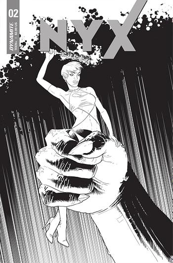 Cover image for NYX #2 CVR E 10 COPY INCV MATTEONI B&W