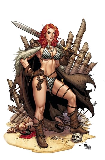 Cover image for RED SONJA #13 CHO CROWDFUNDER EXC VIRGIN CVR