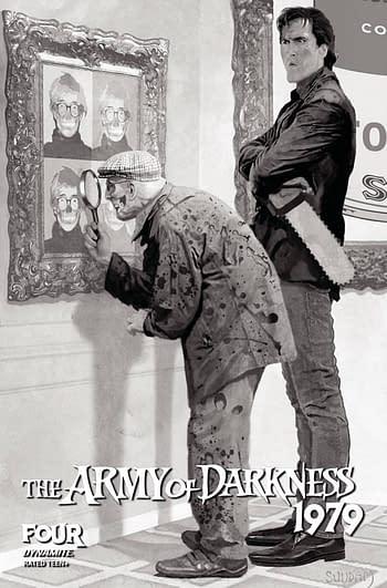 Cover image for ARMY OF DARKNESS 1979 #4 CVR E 10 COPY INCV SUYDAM B&W