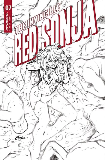 Cover image for INVINCIBLE RED SONJA #7 CVR G 15 COPY INCV CONNER B&W