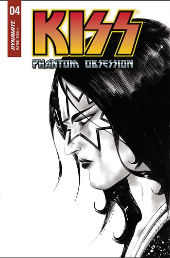 Cover image for KISS PHANTOM OBSESSION #4 CVR I 30 COPY INCV LEE B&W LINE AR