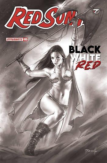 Cover image for RED SONJA BLACK WHITE RED #5 CVR H 30 COPY INCV PARRILLO B&W