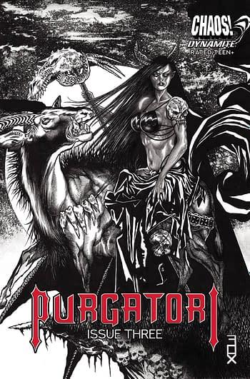 Cover image for PURGATORI #3 CVR F 15 COPY INCV FOX B&W