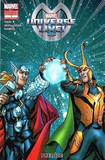 Marvel Universe LIVE! Prelude #1 Front Cover Variant