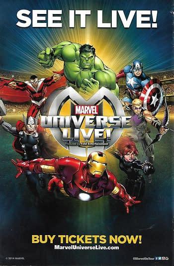 Marvel Universe LIVE! Prelude #1 Back Cover