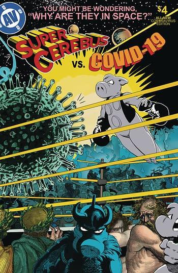 Cover image for SUPER CEREBUS VS COVID 19 ONE SHOT