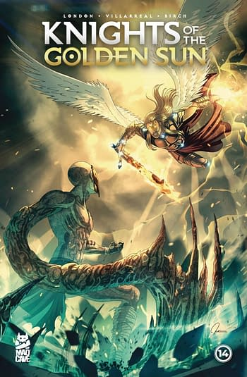 Cover image for KNIGHTS OF THE GOLDEN SUN #14 (RES)
