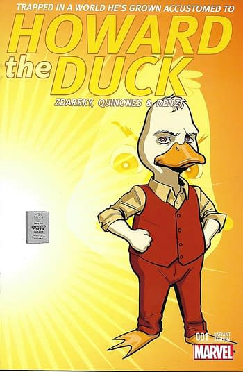 Howard the Duck #1 Evolution of Howard Incentive Variant Front Cover