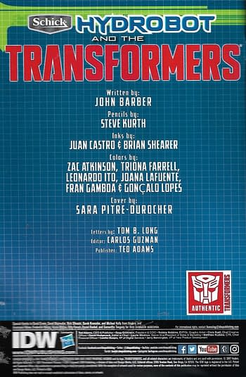 Hydrobot & The Transformers #1 Credits