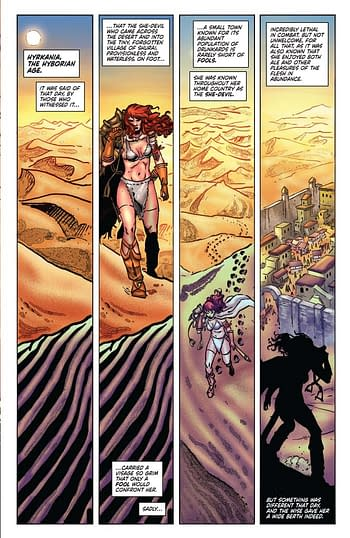 Exclusive Extended Previews for Red Sonja / Tarzan #1 and Sherlock Holmes: The Vanishing Man #1
