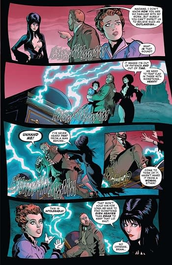 David Avallone's Writer's Commentary on Elvira: Mistress Of The Dark #3