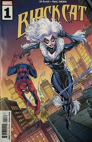 The Walmart Variant Cover of Black Cat #1.