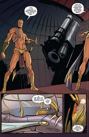 Interior art from Dejah Thoris Vol. 2: Dejah Rising! from Dynamite
