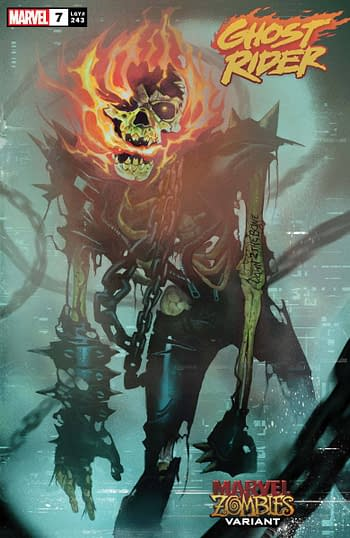 Ghost Rider #7 Marvel Zombies Variant Cover