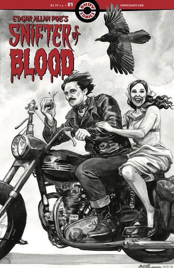 Penultiman and Edgar Allen Poe in Ahoy Comics October 2020 Solicits