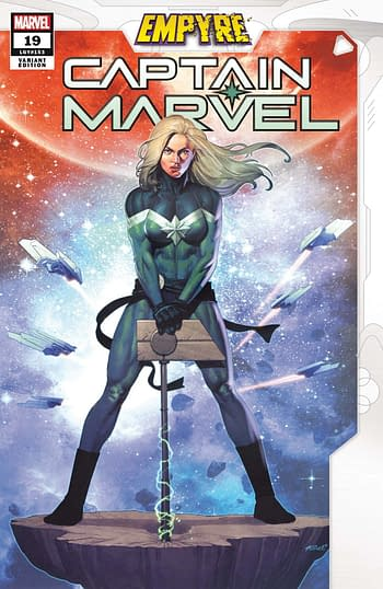 Captain Marvel #19 Empyre Variant Cover