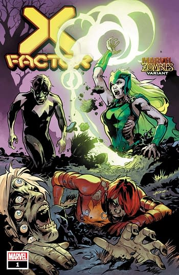 X-Factor #1 Marvel Zombie Variant Cover
