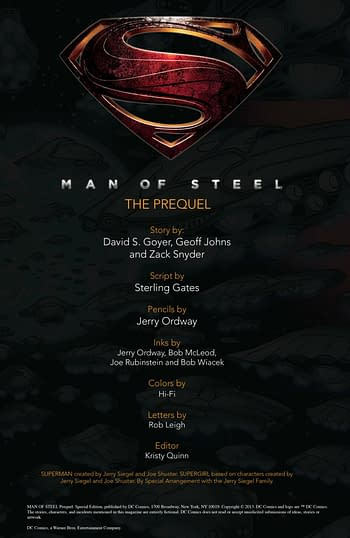 Man Of Steel Prequel Special Edition #1 Page 01