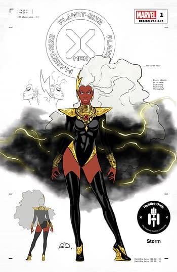 Marvel Unveils 12 Russell Dauterman Hellfire Gala Fashion Variants